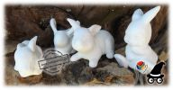 Easter Bunny Bunnies Handcrafted Clay Bisque Decor Gift Gifts Favour Favours