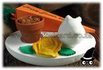 Easter Decorations Bunny Flower Carrot Herb Terracotta Pot Tray